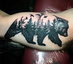 40 Trendy Tattoo For Guys Nature Ink Forest Tattoos, Nature Tattoos, Body Art Tattoos, Sleeve Tattoos, Ship Tattoos, Arrow Tattoos, Word Tattoos, Tatoos, Trendy Tattoos