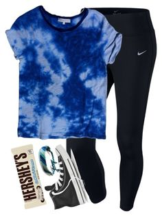 """do any of yall have squad"" by elizabethannee ❤ liked on Polyvore featuring NIKE, Sandro, Converse and Hershey's"