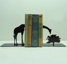 This set of bookends is handmade and designed by Knob Creek Metal Arts.