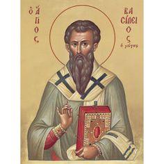 St Basil the Great,  Starting at: $3.00.  Order here: http://catalog.obitel-minsk.com/ #CatalogOfGoodDeeds #CatalogOfStElisabethConvent #icon #iconography #orthodoxicon #orthodoxiconography #paintedicon #iconsinoklads #mountedicons #buyicon #ordericon #handpainted #lacqueredicon #iconpainters #iconographers #icon #case #handmade #wooden #churchgoods #churchitems  #sanctuaryitems