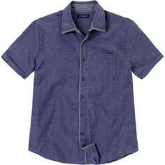 Weekend. Modelo: G815D0603283AMA. Camisa de manga corta, estampada, con combinación en cuello, una bolsa sin botón.
