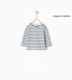 Image 1 of Striped top with elbow patches from Zara