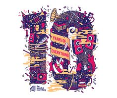 10 Years of Everything by Stavros Kypraios, via Behance