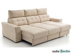 Sofá con chaise-longue modelo Milano fabricado por Acomodel en Sofassinfin.es