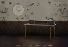 Simple, refined, chic, style, minimal desk and office space with wallpaper. PATRICE : Desks by Larforma Scandinavian Style, Minimal Desk, Study Office, Home Office Decor, Home Decor, Art Decor, Furniture Design, Dining Table, Contemporary