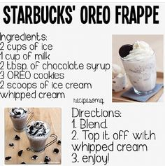 Starbucks Oreo Frappe Drinks Frappe Or . - Starbucks Oreo Frappe Drinks Frappe Oreo Starbucks, You are in the ri - Oreo Desserts, Oreo Dessert Easy, Plated Desserts, Dessert Pizza, Summer Desserts, Bebidas Do Starbucks, Starbucks Drinks, Starbucks Oreo Frappuccino, Coffee Drinks