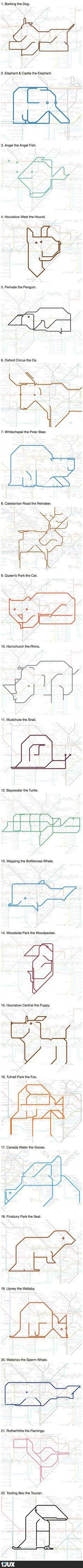 Animals in the London Underground Map