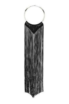 Long black statement necklace from Topshop