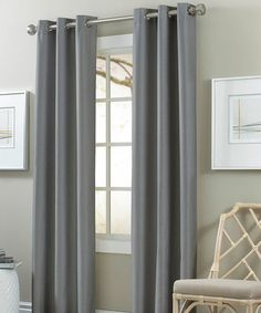 51d6c9e5fcd5 Another great find on  zulily! Medium Gray Blackout Curtain Panel - Set of  Two