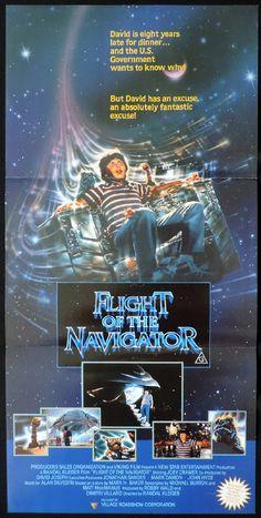 Flight Of The Navigator Original Daybill Movie Poster Joey Cramer Movie Posters Flight Of The Navigator Original Movie Posters