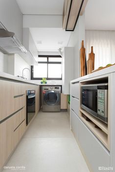Washing Machine In Kitchen, Welcome To My House, Outdoor Kitchen Design, Home Studio, Studio Apartment, Sweet Home, New Homes, Kitchen Cabinets, Home Appliances