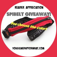 SPIbelt giveaway - perfect for running, half marathon training, marathons, triathlon training, walking, exercise, and general fitness! Also good for holding Epipens for food allergies.