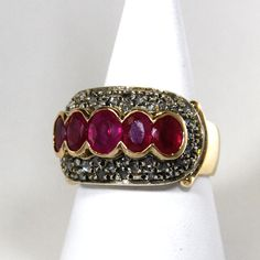 Vintage ladies´ ring with #rubies and rose cut #diamonds