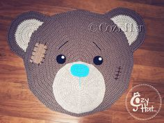 Bear Rug. Hand Crocheted. Made to Order. by CozyHat on Etsy