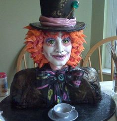 Mad Hatter Bust Cake