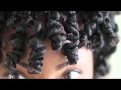 Tutorial- Bantu Knot Out Style on Natural Hair
