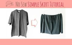 3 snips of the scissor we'll transform a boring tshirt into an ultra comfy, one size fits most, casual summer skirt!