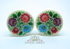 Polish Folk Art 1 Plugs – Gauge Queen
