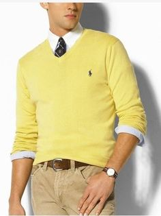 Mens Ralph Lauren Yellow Sweater