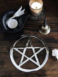 Metalworks 6 inch Pentagram Altar Tool/Home Decor by GrayVervain