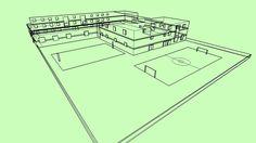 Aquí os dejo mi instituto en 3D, me sale el error de las texturas, no se porque se ve así :/