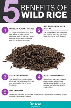 Wild rice benefits - Dr. Axe http://www.draxe.com #health #holistic #natural