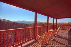 Fall in the Smoky Mountains, lazy on the deck of a cabin called Spectacular View. Smoky Mountain Cabin Rentals, Smoky Mountains Cabins, Great Smoky Mountains, Attraction Tickets, Pigeon Forge Cabins, Gatlinburg Cabins, Lazy, National Parks, Deck