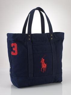 Polo Ralph Lauren Big Pony Zip Tote Work Bags, Polo Ralph Lauren, Ralph  Lauren efe012059c