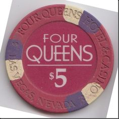 This chip is from the Four Queens casino in downtown Las Vegas, Nevada.