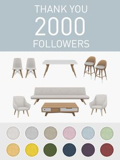 "simplistic-sims4: ""2000 Followers Set!Seema RecolouredI've been really overwhelmed by all the support, encouragement and positivity from the Sims community here on Tumblr. Having just started this..."