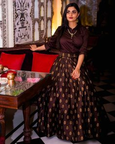 Clothes For Girls Skirts 55 New Ideas Western Dresses, Indian Dresses, Indian Outfits, Lehenga Designs, Saree Blouse Designs, Indian Designer Outfits, Designer Dresses, Long Skirt With Shirt, Diwali Dresses