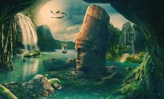 Atlantis - The Lost Empire with the most advanced knowledge in the history of mankind. Atlantis' capital city was elaborately constructed, where great temple. Twin Flame Reunion, Ancient Aliens, Capital City, Atlantis, Priest, Exotic, Island, History, World