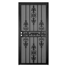 Unique Home Designs El Dorado 36 in. x 80 in. Black Outswing Security Screen Door-5HS620BLACK36 at The Home Depot