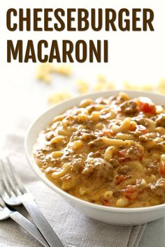 Cheeseburger Macaroni (Kid's Favorite!) | Six Sisters' Stuff Forget Hamburger Helper - this made-from-scratch Cheeseburger Macaroni is my kids' favorite meal. This macaroni and cheese recipe is a fast dinner for those busy nights (and adults love it too) and is the perfect family easy dinner recipe. Hamburger Helper Recipes, Hamburger Dishes, Beef Dishes, Pasta Dishes, Hamburger Ideas, Unique Recipes, Easy Dinner Recipes, Great Recipes, Favorite Recipes