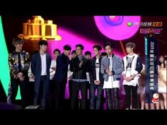 150413 GOT7 won Most Potential Newcomer Award @ 2015 Top Chinese Music Festival - YouTube