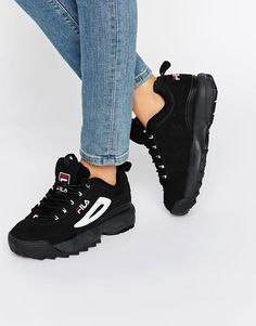 Image 1 of Fila Distruptor Trainers In Black