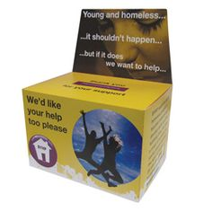 ThisLarge Charity Collection box comes flat packed and can be printed in full colour to your own design. Great value for money! #charity #fundraising #allwag