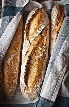 Rustic baguettes