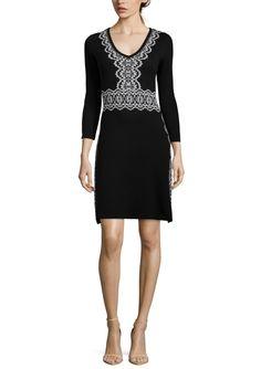 NINE WEST V-Neck A-Line Dress | ideel