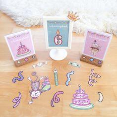 Materialwiese: Geburtstag in der Grundschule / Geburtstagsaufsteller für das Geburtstagskind