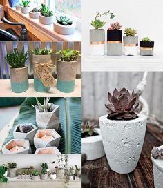 Vasos de cimento: como fazer um modelo por R$1