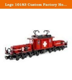 Lego 10183 Custom Factory Hobby Train. Contains 1083 pcs. For age 16 & up. Designed by Lego funs.