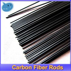 16pcs/lot New Carbon Fiber Rods For RC Plane DIY Tool Wing Tube Quadcopter Arm 1mm 1.5mm 2.0mm 3mm (500mm Length) Wholesale