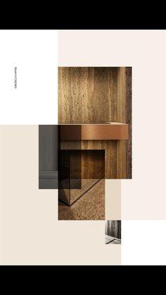 inspiration by Belgian designer/photographer Thomas de Bruyne/Cafeine. Moodboard Interior, Web Design Mobile, Layout Design, Book Design, Planer Layout, Material Board, Collage, Portfolio Layout, Corporate Branding