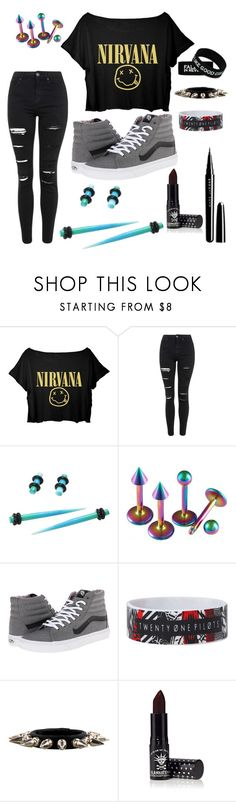 """my style"" by mikkibear09 ❤ liked on Polyvore featuring Topshop, Hot Topic, Vans, Chrome Hearts, Manic Panic NYC and Marc Jacobs"