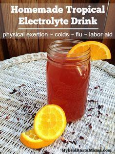 Homemade Tropical Electrolyte Drink by Hybrid Rasta Mama