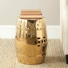ABBYSON LIVING Sophia Yellow Pierced Ceramic Garden Stool | Overstock.com Shopping - The Best Deals on Garden Accents