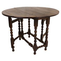 Antique English Oak Period Gateleg Table