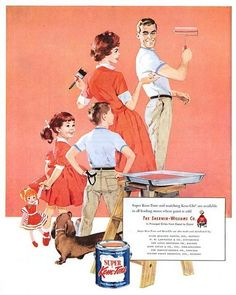 Vintage Sherwin-Williams Advertisement with Dachshund