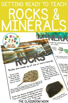 Teaching rocks and minerals to upper elementary students can be bland. Check out this post for some great tips, activities, and resources to help make your rocks and minerals science unit engaging and interactive! Grab a free rock sorting activity in the Rock Science, Science Games, Science Topics, Science Curriculum, Science Resources, Teaching Science, Science For Kids, Earth Science Activities, Science Symbols